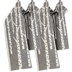 KOIVU towels white-black