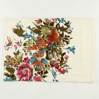 Watercolor Floral Placemats - contemporary - placemats - by Cost Plus World Market