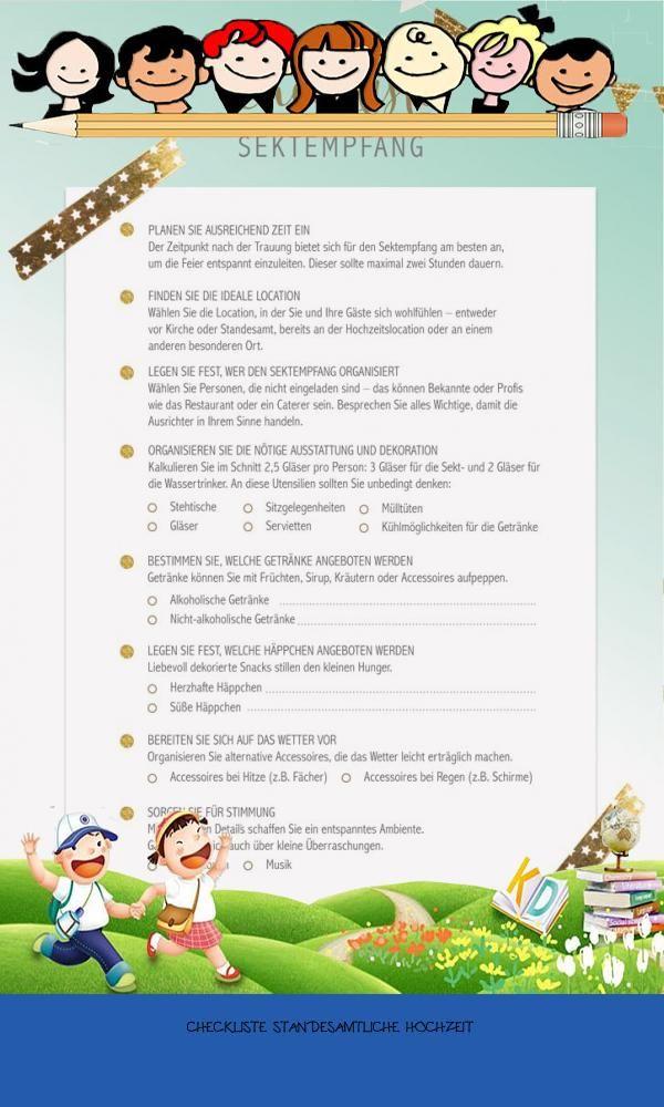 Good 11 Checkliste Standesamtliche Hochzeit