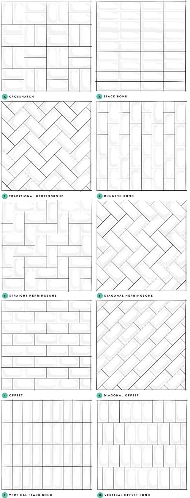or if you love subway tiles, new patterns to try! 10 alternatives to the offset subway tile pattern