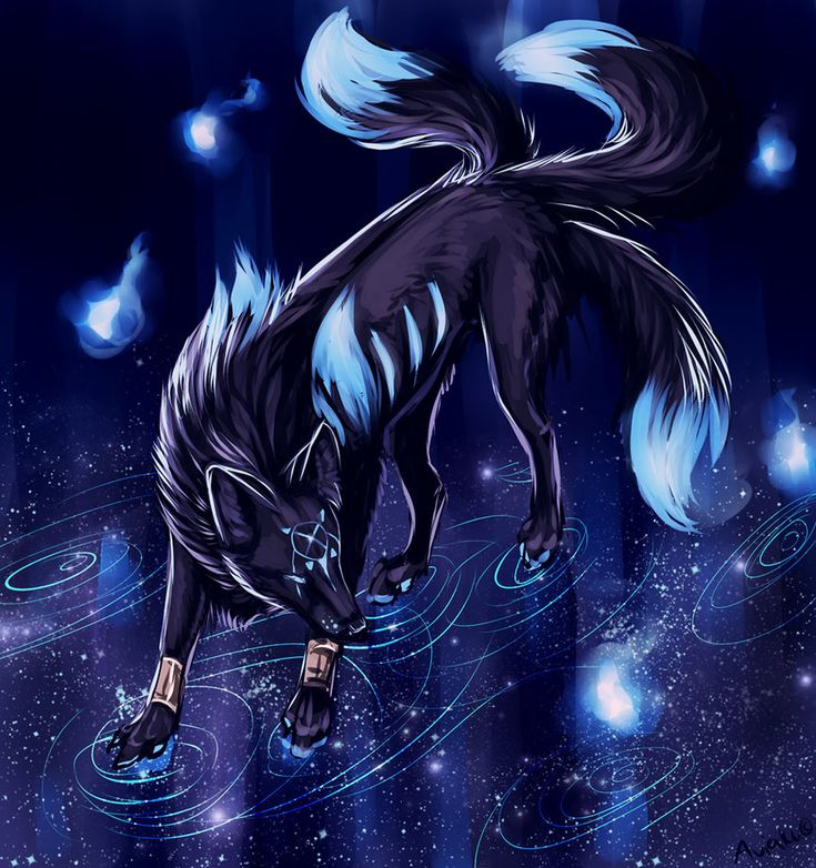 Image result for anime six tailed demon wolf