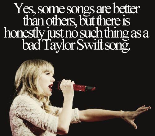 Spoken like a true #TaylorSwift fan....I didn't start out as one but I'm definitely hooked now. :-)