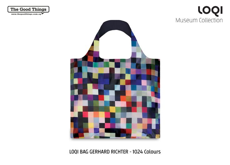 LOQI BAG GERHARD RICHTER - 1024 Colours  Gerhard Richter  1024 Colours © Gerhard Richter  Tote Bag  #tgt #thegoodthings #loqi #museum #collection #tote