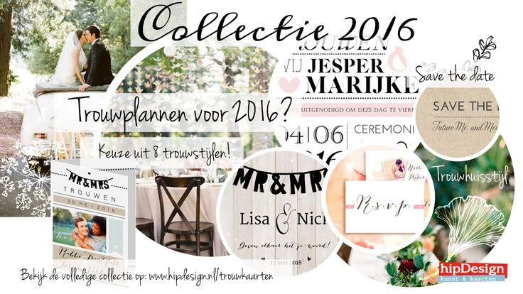 hipDesign Collectie trouwkaarten 2016