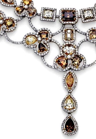 Diamonds come in a rainbow of colors. Do you like these Champagne and Brown diamonds?