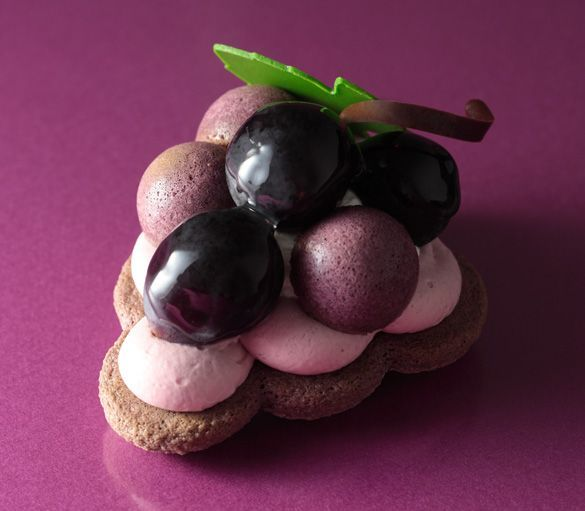 Japanese patisserie - grape dessert