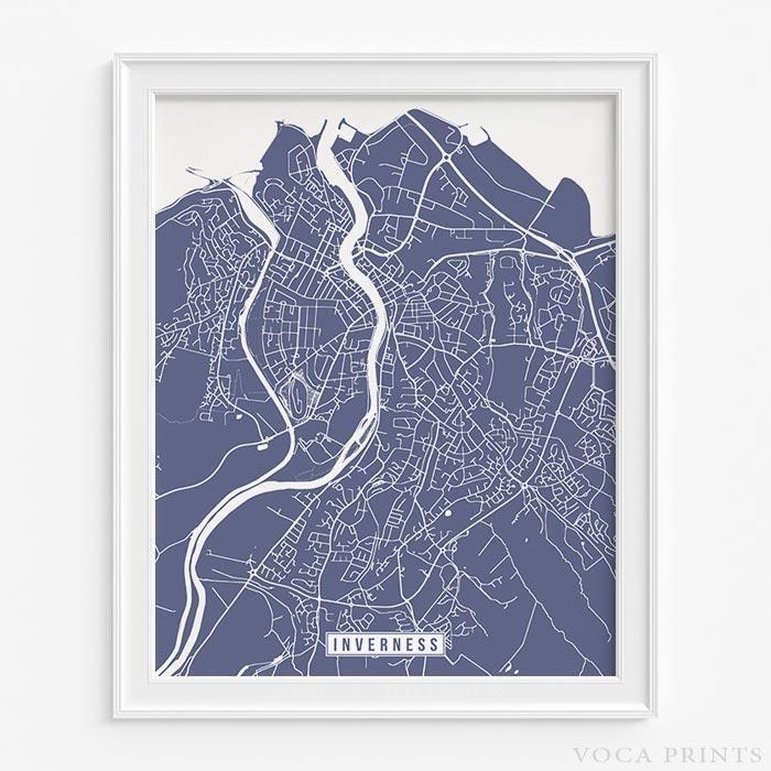 Map Paris Airports%0A Inverness  scotland street map print