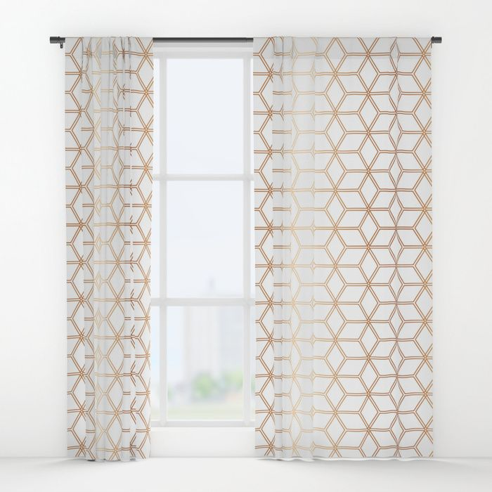 Buy Hive Mind Rose Gold #113 Window Curtains By Naturalcollective.  Worldwide Shipping Available At
