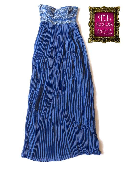 El color azul te brinda una apariencia juvenil. ¿Para qué ocasión lo usarías? #LolasAlquilerdeVestidos