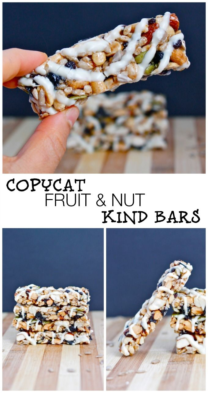 Copycat Kind Bars- Everyone's favourite packaged snack bar- Now you can make your own- Gluten Free, low sugar and chock full of healthy nuts! #glutenfree