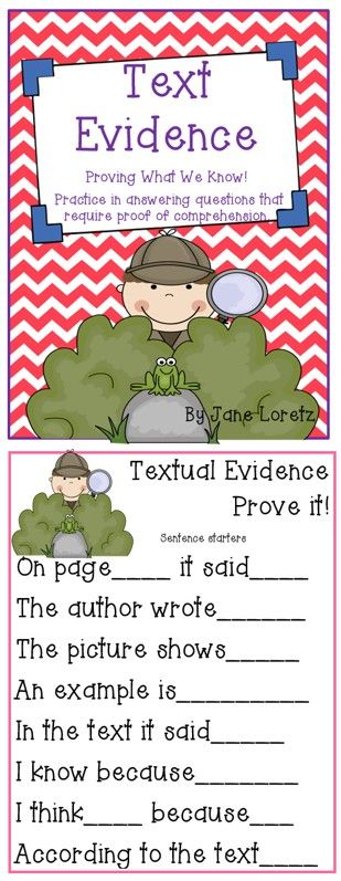 Text evidence pack! I just like the poster with phrases to help students respond with the evidence