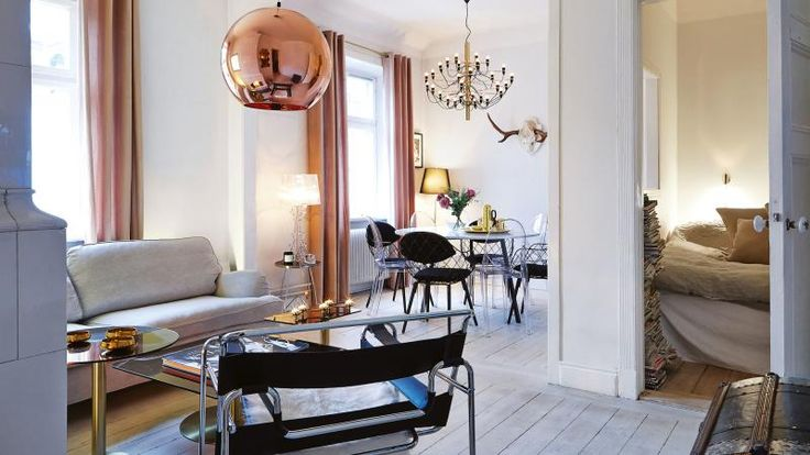 lessons in Scandinavian cool from a cosy Swedish apartment