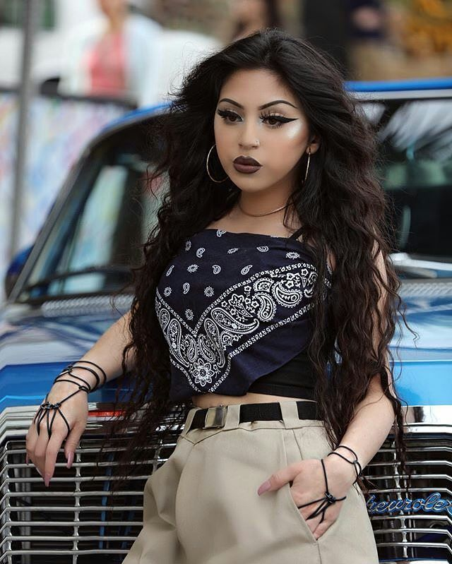 "3,999 Likes, 25 Comments - CHICANO CULTURA (@chicano_styles) on Instagram: "" • @shady.cs • #chicana #chola #hyna #mexican #mamacita #lowridergirl #lowrider…"""