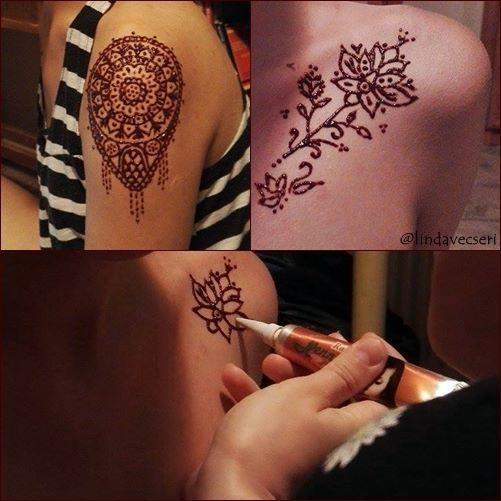 henna, at home, sisters