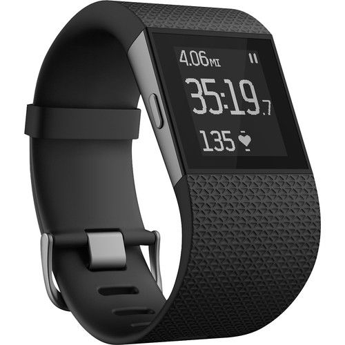 Fitbit - Surge Large-Size Fitness Watch with Heart Rate Monitor - Black #BestBuyWedding