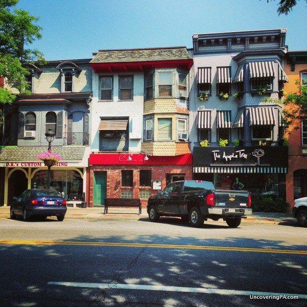 Shops in downtown Stroudsburg, Pennsylvania.