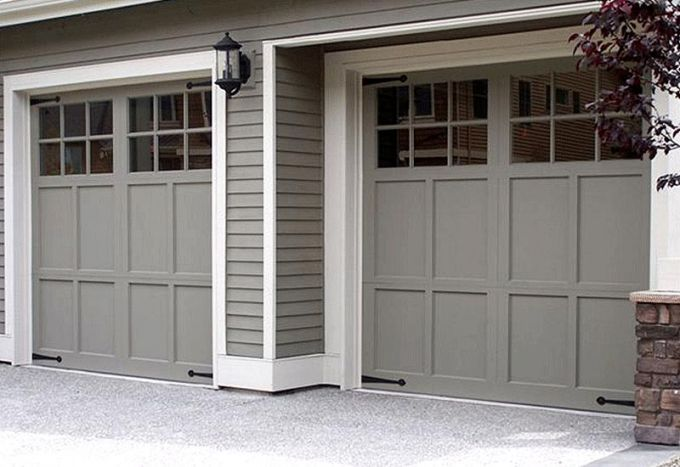Exterior Carriage Style Garage Doors Lowes Stunning On Exterior With 43 Door That Com Carriage Style Ga Garage Door Design Garage Door Paint Garage Door Styles