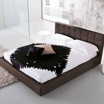 Contemporary, minimalist 'Blackcurrant' bed. My Italian Living. Upholstered, elegant.