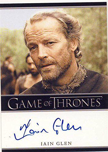 2014 Game of Thrones Season 3 Autograph Card Iain Glen as Ser Jorah Mormont