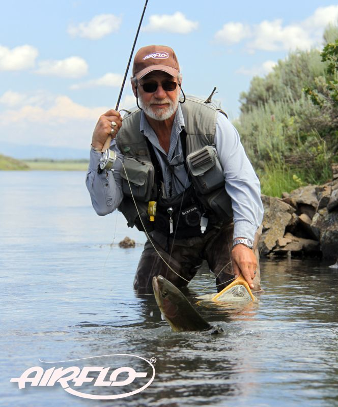 Rene Harrop with a beatiful male rainbow trout from the ...