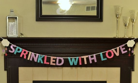 Sprinkled with Love Glitter Banner by Glambanners on Etsy