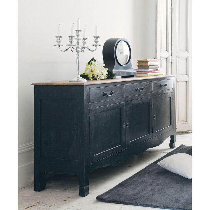 Credenza nera in mango L 160 cm Versailles | Maisons du Monde