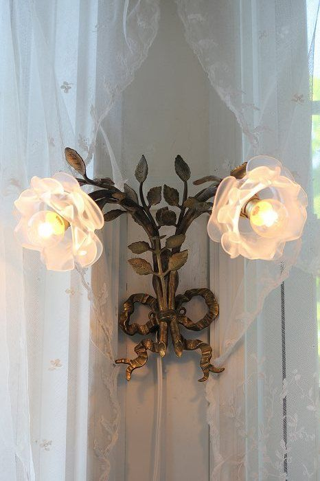 Must have for me...TWO sconces on each side of my newly shabby chic-decorated room....it's a touch of love-you bet....Brandy, having fun decorating, again.....1st time doing Shabby Chic....dedicating 1 room to my beloved Shabby treasures....will show personal pics, too....w/ added twists-hoping you too, -LOVE~~~ is in the air....always.