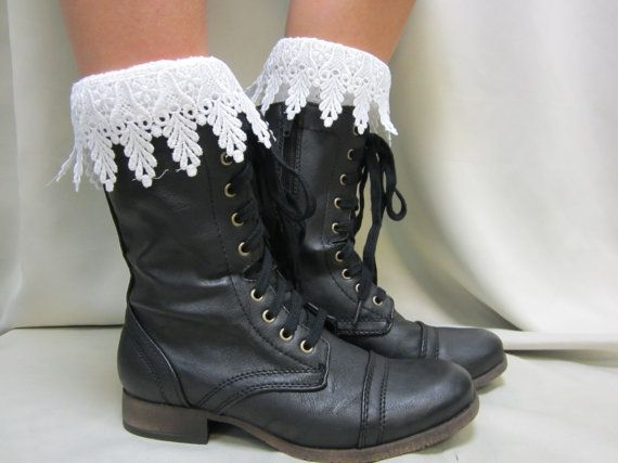 The Ultimate lace socks for your  combat by CatherineColeStudio, $18.50