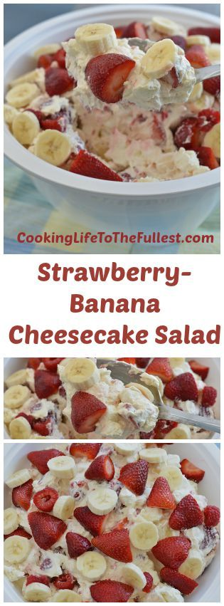 Watch the Strawberry-Banana Cheesecake Salad cooking video