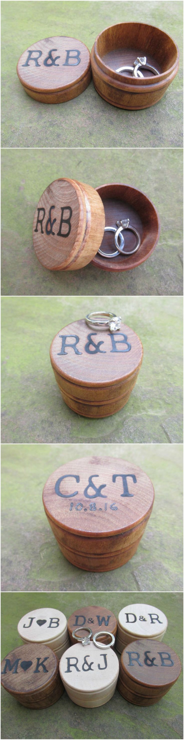 Rustic Country Wedding Ideas - Rustic Ring Bearer Box by Trees2Art