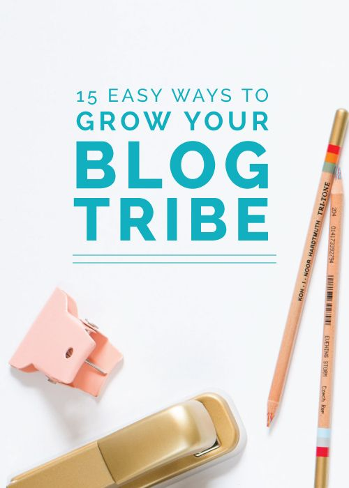 15 Easy Ways to Grow Your Blog Tribe - Elle & Company