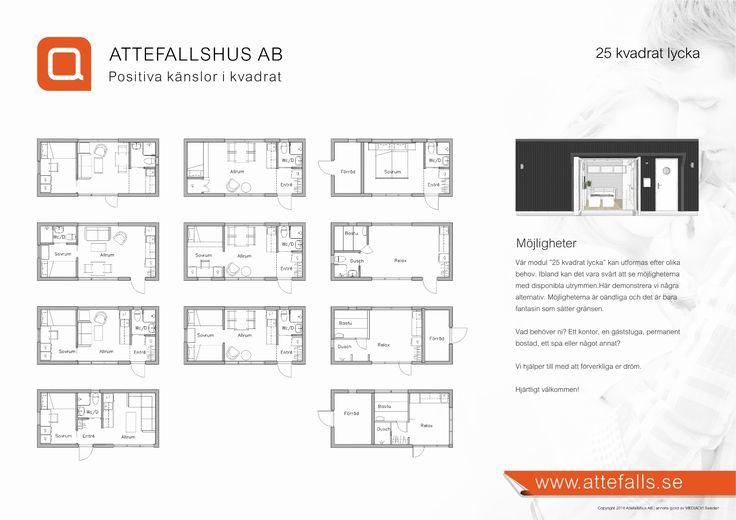 Attefallshus 25 kvadrat Lycka - Attefallshus