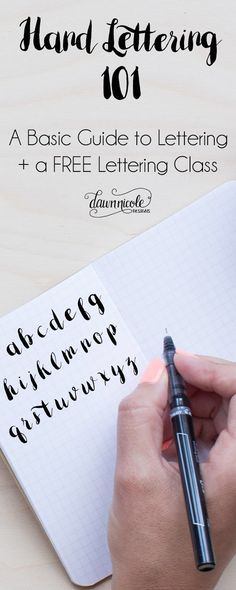 Hand lettering 101. A basic guide.