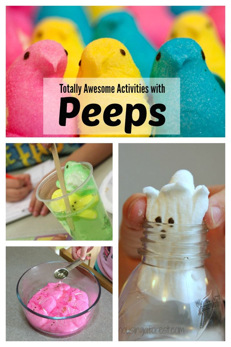 "From peep catapults and treasure hunts, to microwaved peeps and peeps in a bottle, check out these totally awesome activities just in time for Easter! (via ""Lemon Lime Adventures"")"