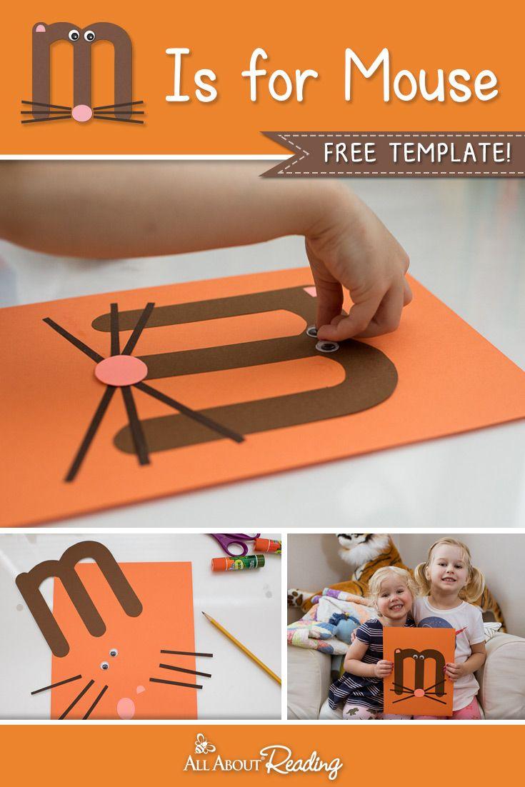Printable Letter M Craft M Is For Mouse Letter M Crafts Alphabet Preschool Preschool Activities
