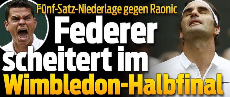 Erstmals steht mit Milos Raonic (25) ein Kanadier in einem Grand-Slam-Final !! Er bezwingt den 7-fachen Wimbledon-Sieger Roger Federer 6:3, 6:7, 4:6, 7:5, 6:3 und beendet damit Titelträume des Schweizers !! 8-Juli-2016