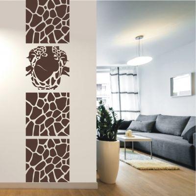 deko-shop-24.de-Wandtattoo-Banner Giraffe