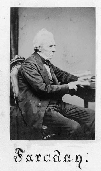 Michael Faraday in later life. From the IET Archives