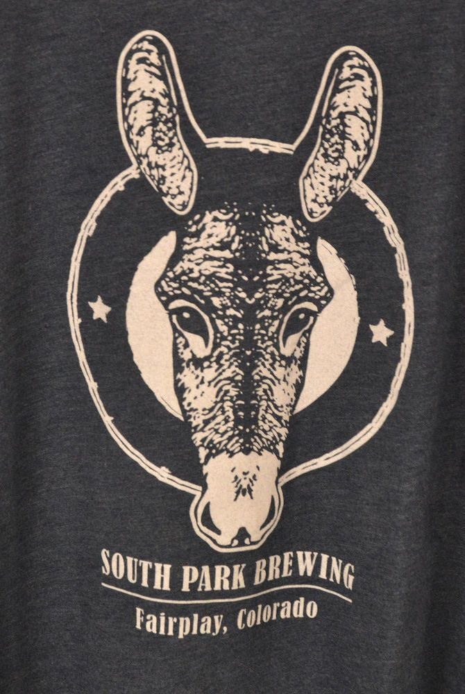 South Park Brewing Shirt Donkey Print Navy Adult 2XL XXL Micro Brewery Beer #NextLevel #GraphicTee