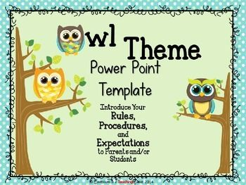 This 10 slide Owl Themed Back-to-School Power Point presentation is fully customizable.  You can add or delete slides to fit your needs.  All text is editable too!Owl Theme Parent Information Night Power Point Template by Confessions of a Teaching Junkie is licensed under a Creative Commons Attribution-NonCommercial-NoDerivatives 4.0 International License.