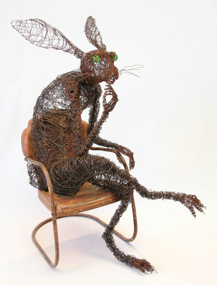 13 best Josh Cote images on Pinterest | Wire art, Wire work and Hare