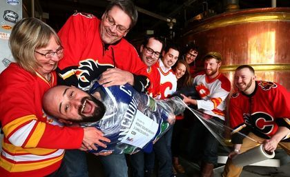 Calgary's Village Brewery Flames Canucks hockey wager