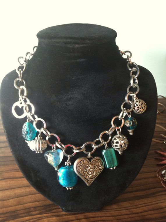 Bedelketting turquoise