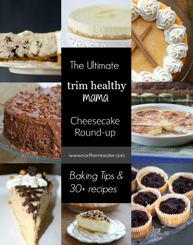 The ultimate Trim Healthy Mama Cheesecake Round-Up, with low-carb cheesecake baking tips, and over 30 of the very best Trim Healthy Mama cheesecake recipes!
