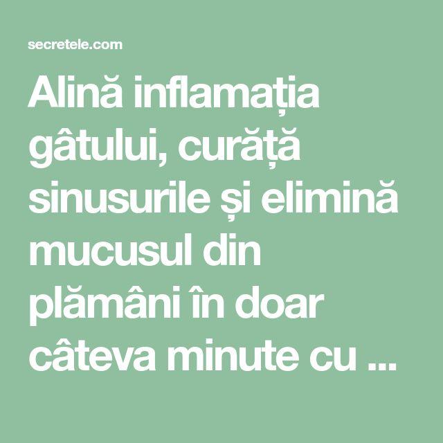 Alină inflamația gâtului, curăță sinusurile și elimină mucusul din plămâni în doar câteva minute cu un amestec de vis! - Secretele.com