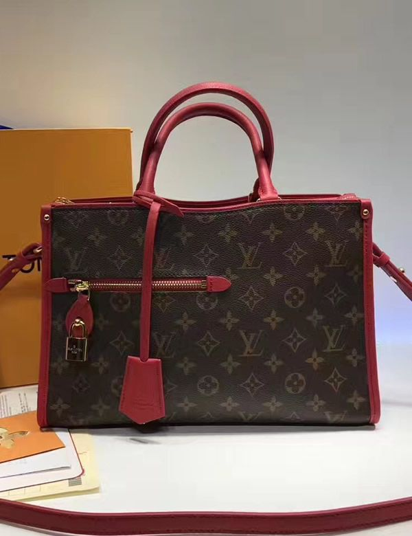 d713c4fb87ba Louis Vuitton Monogram Canvas Popincourt PM Red