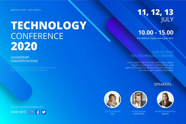 Technology Poster Design Vector Free Download Technology Conference Poster Template Free Vector Conference Poster Template Conference Poster Technology Posters