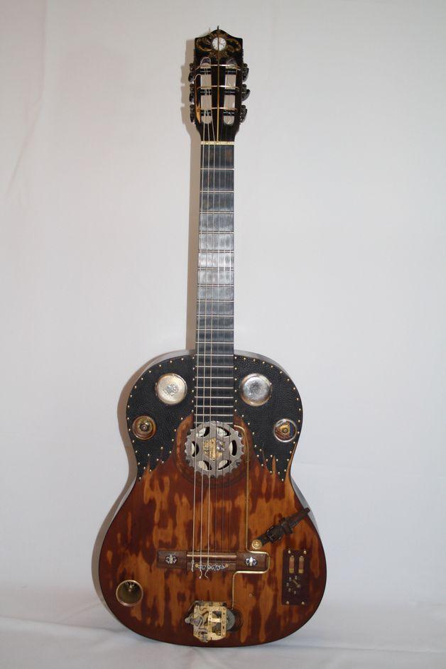 die besten 25 steampunk gitarre ideen auf pinterest. Black Bedroom Furniture Sets. Home Design Ideas