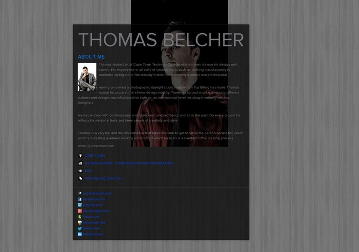 THOMAS BELCHER's page on about.me – http://about.me/thomasbelcher