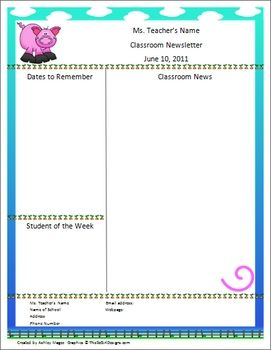 Best 20+ Teacher newsletter templates ideas on Pinterest | Parent ...